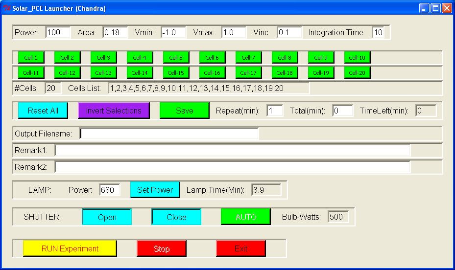 GUI Program for Testing Solar Cells (Solar_GUI_v2.py)!